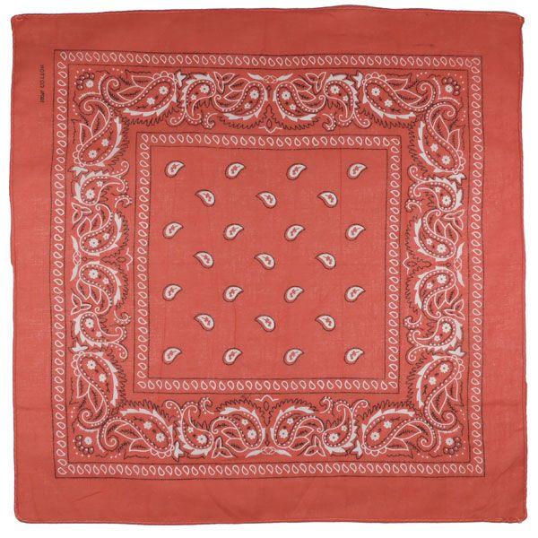 Бандана огурцы в квадрате (рыжая)