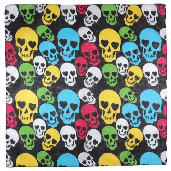 Бандана с цветными черепами