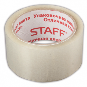 Клейкая лента 50мм х 66м упаковочная STAFF ЭКОНОМ прозрачная, 40мкм, 440082