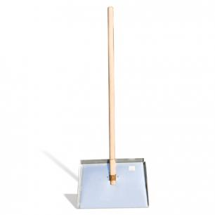 Лопата снегоуборочная оцинкованная сталь, 46х30см, высота 130см, с черенком высший сорт, ЛО-3
