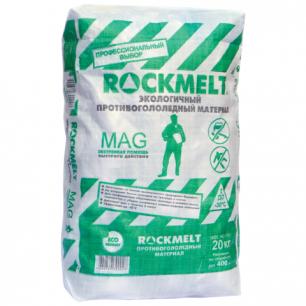 Реагент антигололедный ROCKMELT Mag (Рокмелт Маг)  20кг, до -30С, мешок, ш/к 90028