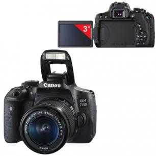 "Фотоаппарат зеркальный CANON EOS 750D 18-55мм IS STM, 24,2 Mп, 3""ЖК-сенс.мон.пов, Wi-Fi, NFC, 0592C005"