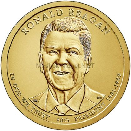 1 доллар США 2016 год 40 Президент Рональд Рейган (Ronald Wilson Reagan)