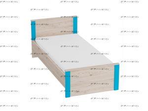 Кровать Скаут с основанием (Детская) 90х200
