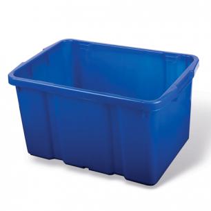 Ящик для хранения штабелируемый 60л, (в60*ш40*г34см), цвет синий, PT9954