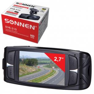 Видеорегистратор автомоб. SONNEN DVR-310, HD, 120°, экран 2,7'', G-сенсор, microSDHC, AV, 352863