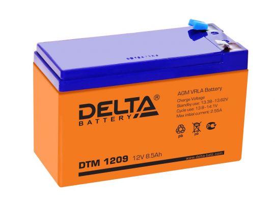 Аккумулятор свинцово-кислотный АКБ DELTA (Дельта) DTM 1209 12 Вольт 8.5 Ач