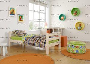 Кровать Соня-1 массив (80х190)