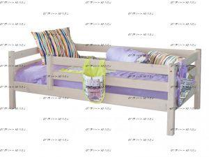 Кровать Соня 3 с защитой по периметру массив (80х190)