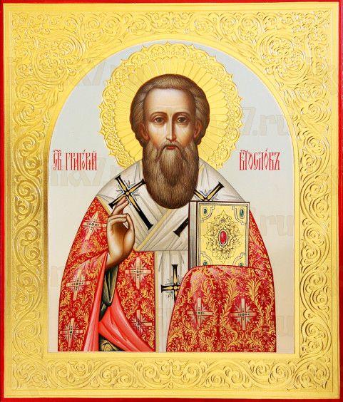 Григорий Богослов (рукописная икона)