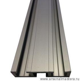Шина c тремя направляющими T-track 51 мм, анодированная, серебро матовое, 2 м TR051.2000