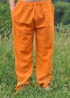 Мужские оранжевые летние штаны для йоги из органического хлопка, Индия