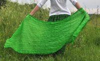 Салатовый шарф из натурального шелка, 1000 руб.