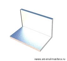 Уголок 130 мм алюминиевый  (без отверстий) для крепления профиль-шины AP130-F