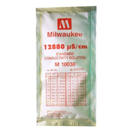 12880 µS/cm Conductivity Calibration Solution 20 ml Milwaukee