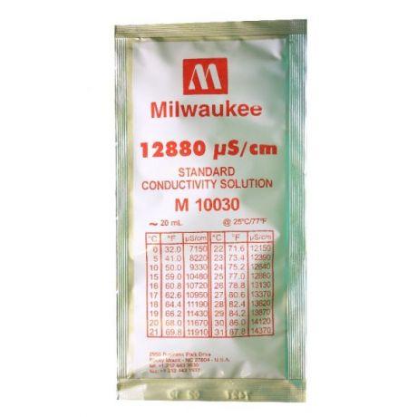 12880 µS/cm Conductivity Calibration Solution 20 ml Milwaukee