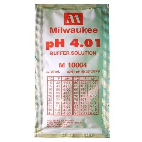 pH 4.01 Calibration Buffer Solution 20 ml Milwaukee