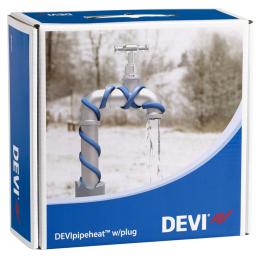 Обогрев труб DEVI нагревательный кабель саморегулируемый Deviflex DPH-10 (Pipeheat)   8 м    80 Вт