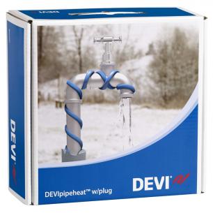 Обогрев труб DEVI нагревательный кабель саморегулируемый Deviflex DPH-10 (Pipeheat)  25 м  250 Вт
