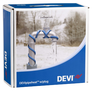 Обогрев труб DEVI нагревательный кабель саморегулируемый Deviflex DPH-10 (Pipeheat) 19 м  190 Вт