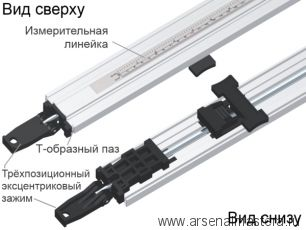 CMT PGC-36 Тиски торцевые (прямолинейная направляющая с эксцентриковым прижимом) для зажима заготовки  до 915 мм (36 дюймов)