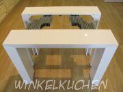 стол консоль трансформер 2316 белый глянец