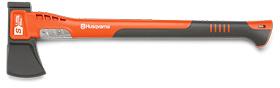 Топор-колун малый HUSQVARNA S1600, 60 см, пластиковая рукоятка, с пластиковым чехлом на лезвие 5807613-01