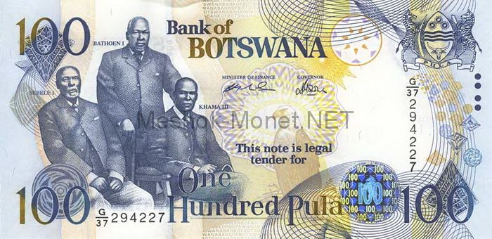 Банкнота Ботсвана 100 пула 2005 год