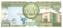 Банкнота Бурунди 5000 франков 1999 - 2005 г