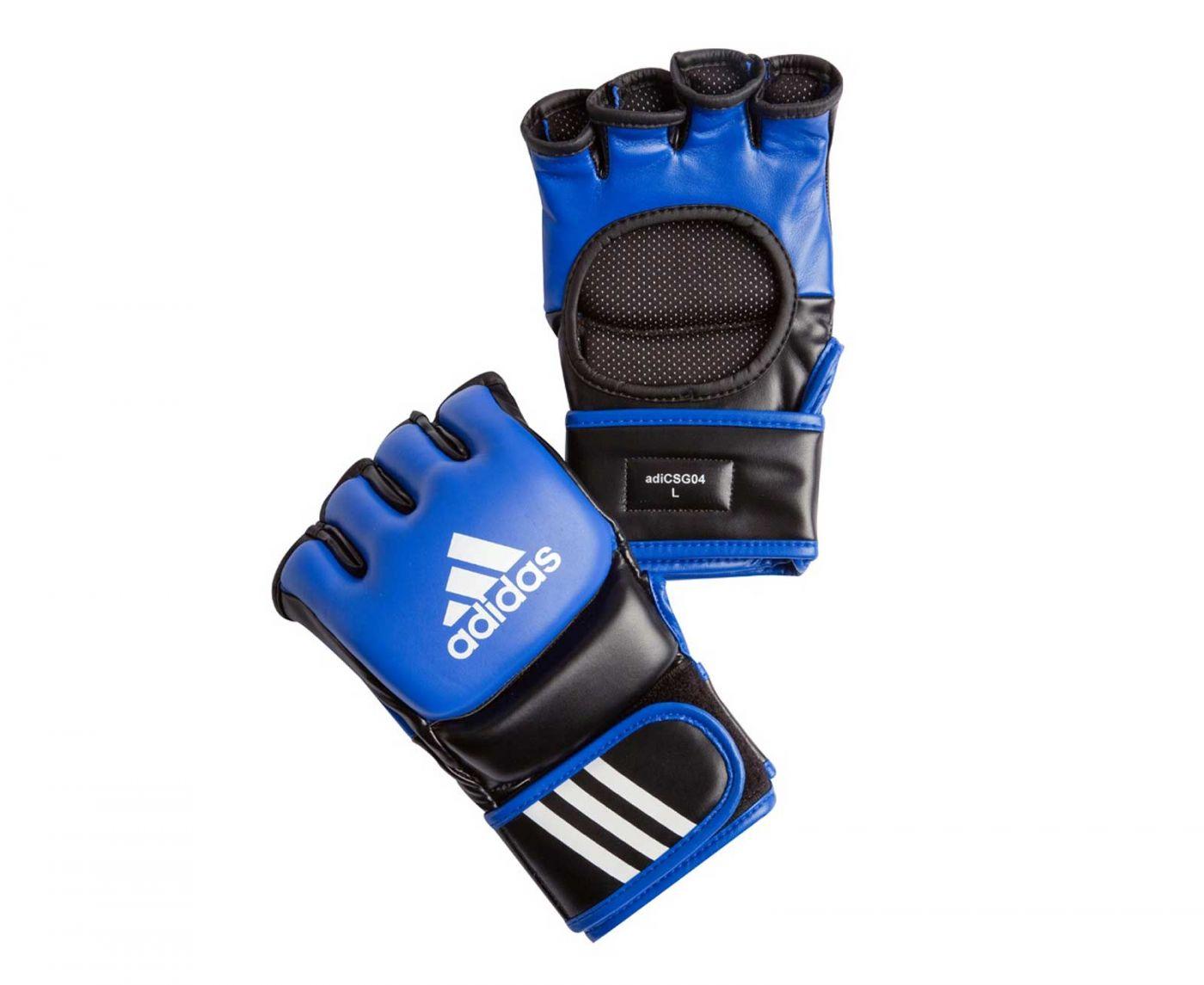 Перчатки для смешанных единоборств Adidas Ultimate Fight сине-черные, размер S, артикул adiCSG041