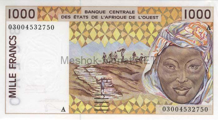Банкнота Гвинея-Биссау 1 000 песо 1991 - 2002 год