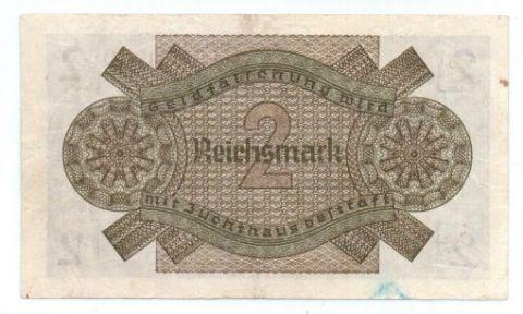 2 рейхмарки 1939-1945 г. Германия для оккупированных территорий.
