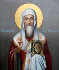 Икона Алексий, митрополит Московский (рукописная)