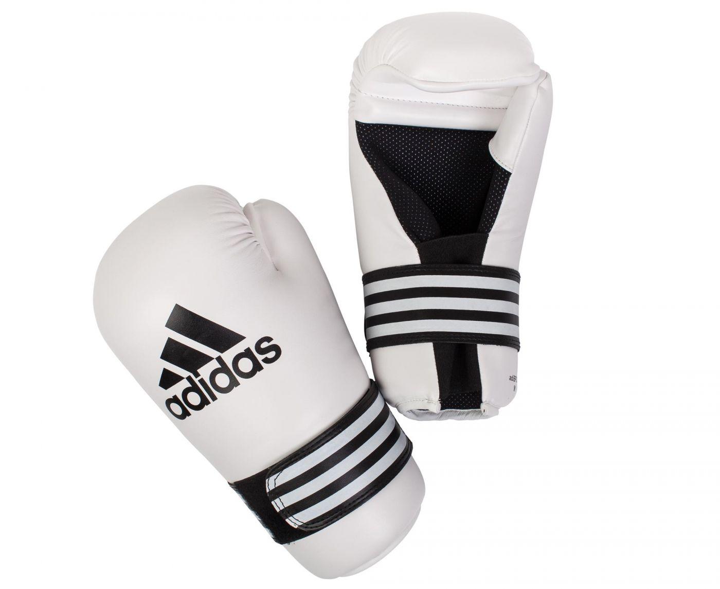 Перчатки для полуконтакт Adidas Semi Contact Gloves белые , размер L, артикул adiBFC01