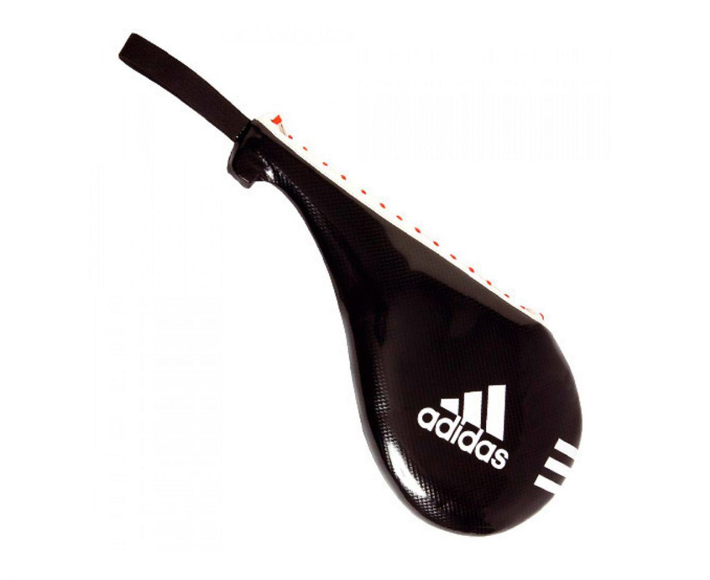 Ракетка Тэквон-до Adidas одинарная Maya Single Target Mitt чёрная, размер S, артикул adiTST03