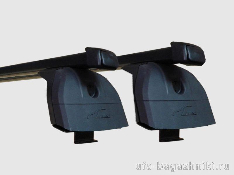Багажник на крышу Suzuki Grand Vitara, Lux, стальные прямоугольные дуги на интегрированные рейлинги