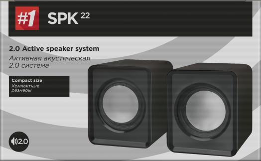 Мультимедийные колонки 2.0 Defender #1 SPK 22 черный, 5 Вт, питание от USB