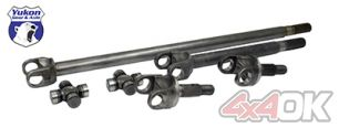 Yukon 4340 Chrome-Moly replacement axle kit for '07-'15 Dana 30 front, Non-Rubicon JK, w/SuperJoints - YA W24166