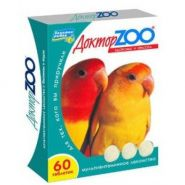 Доктор ZOO Мультивитаминное лакомство для птиц (60 табл.)