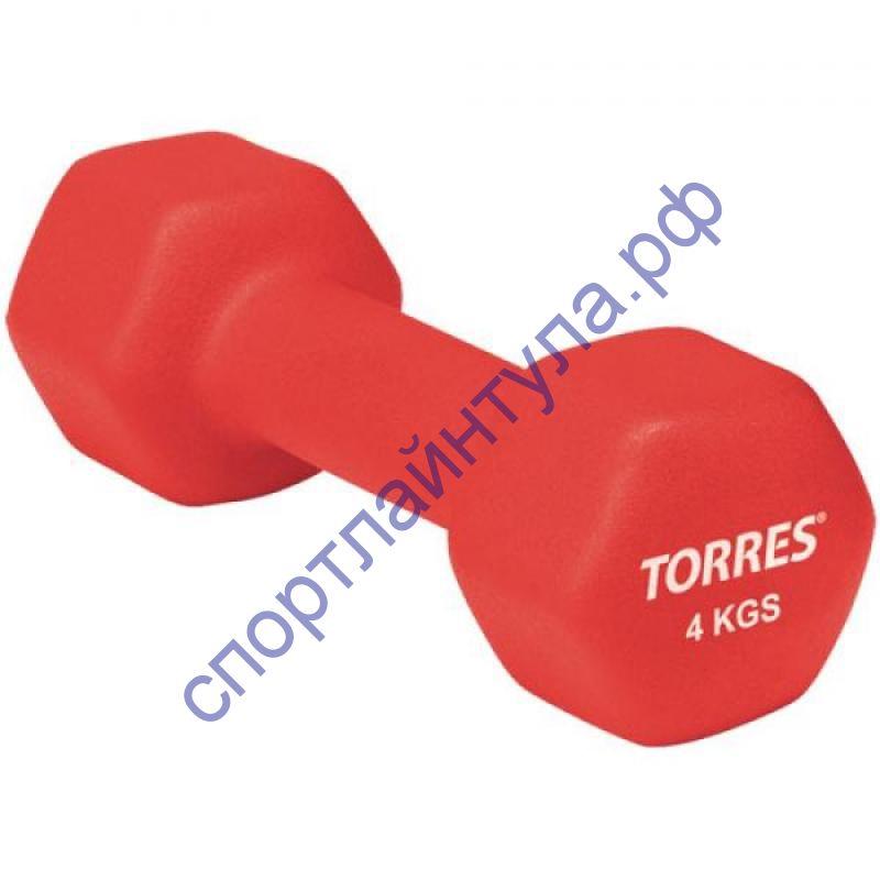 Гантель TORRES неопрен 4 кг
