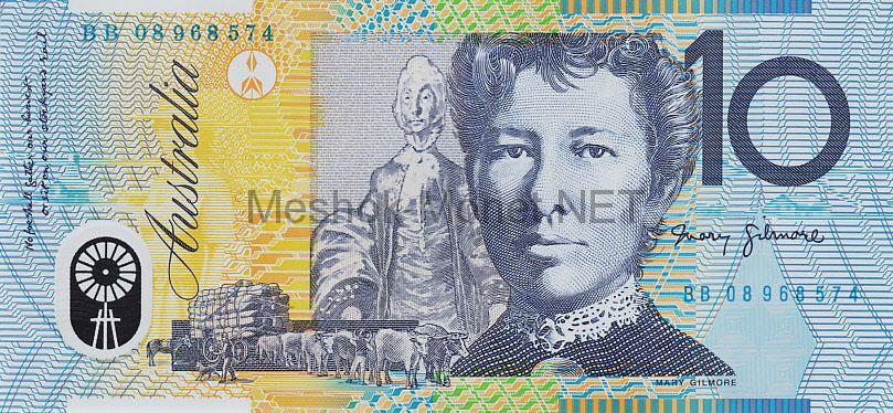Банкнота Австралия 10 долларов 2007 - 2008 год