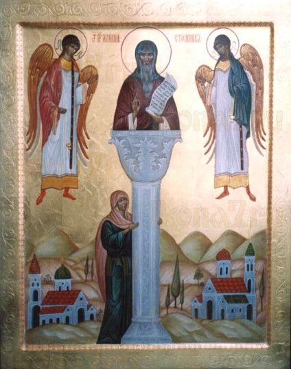 Икона Алипий Столпник (рукописная)
