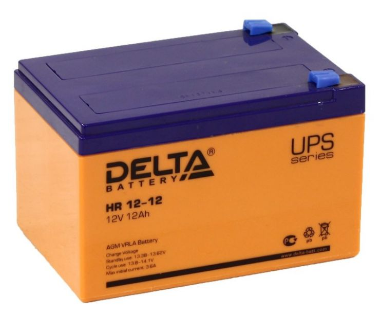 Аккумулятор свинцово-кислотный АКБ DELTA (Дельта) HR 12-12 12 Вольт 12 Ач