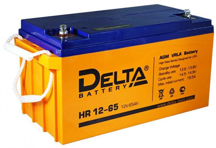 Аккумулятор свинцово-кислотный АКБ DELTA (Дельта) HR 12-65 12 Вольт 65 Ач