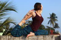 Женские индийские штаны алладины со спиральками, голубой цвет. Москва