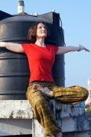 Купить женские шаровары из Индии в Москве. Оливковые, зеленые