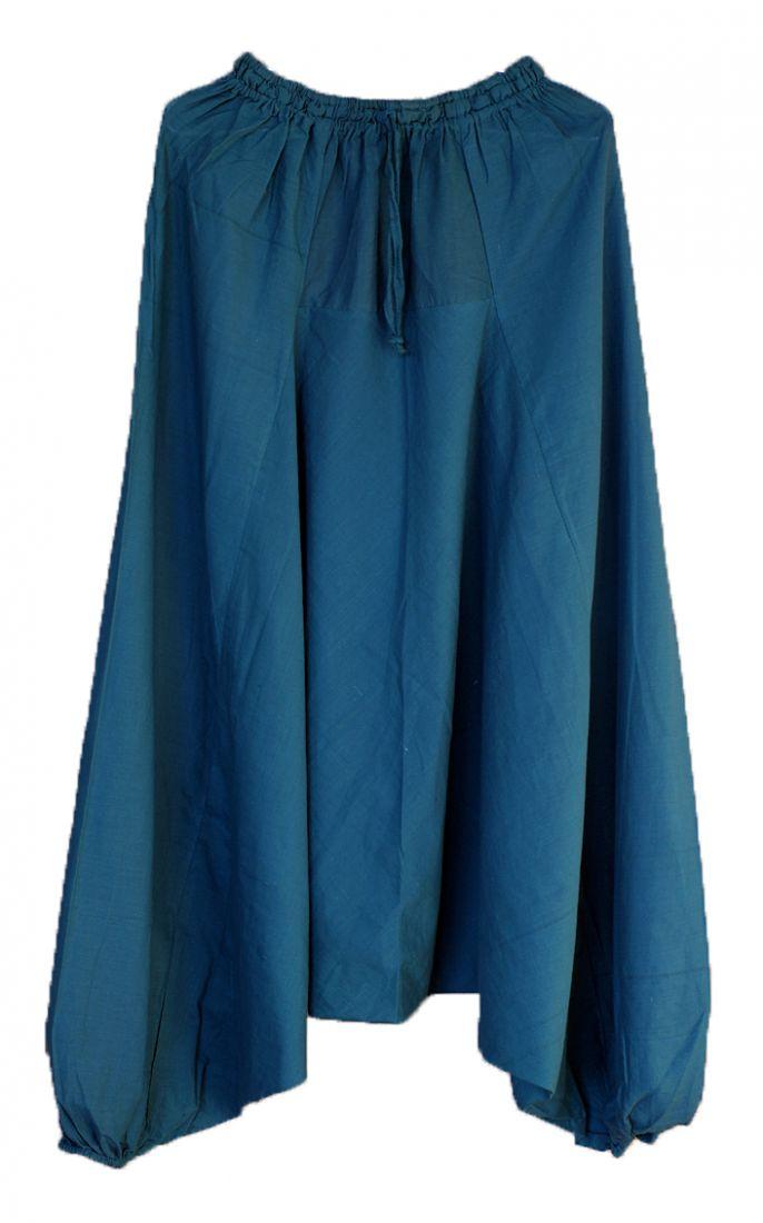 СИНИЕ Мужские штаны алладины из хлопка (Москва)