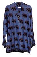 Мужская индийская рубашка со слонами, купить в Москве