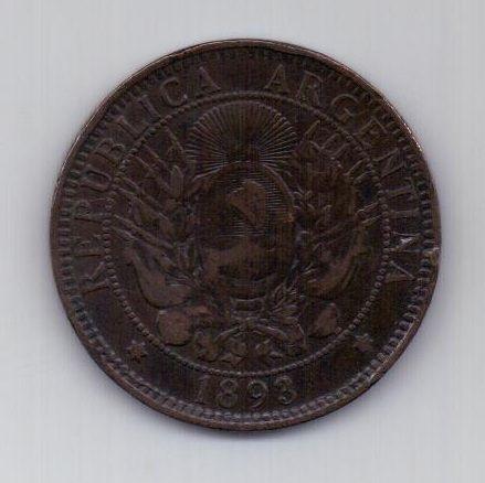 2 сентаво 1893 г. Аргентина