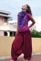 Индийские штаны алладины, купить в интернет-магазине, Москва. Бордовый цвет